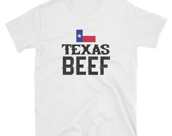 8878f9736d Texas Beef T-Shirt, Eat Texas Beef, Texan Farmer Gift, Lone Star State Pride  Tee, Short-Sleeve T-Shirt