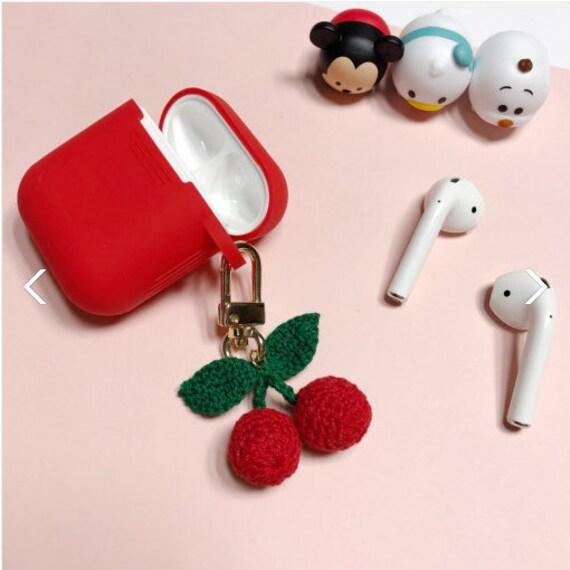 timeless design 4c596 37988 AIRPODS CASE + KEYCHAIN| Cherry airpods case| cherry keychain| kawaii  keychain| airpods case| keychain| red