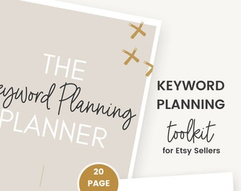 Keyword Planning Toolkit for Etsy Sellers | Etsy Shop Planner | Etsy SEO Guide | Keyword Research Tool | Etsy Seller Planner