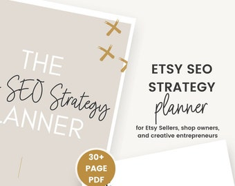 Etsy SEO Planner | Learn How to Drive Traffic to Your Etsy Shop | SEO Optimization | Etsy SEO Help