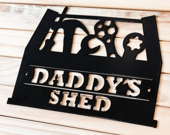 GRUMPYS SHED-DIY-KEEP OUT-London Street Sign-Signs for the Shed-Fathers day Gift