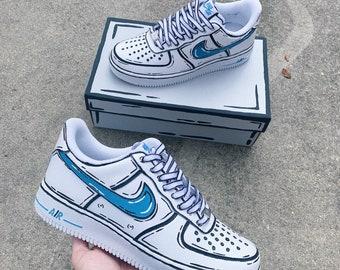 Custom Nike Air Force 1 Etsy