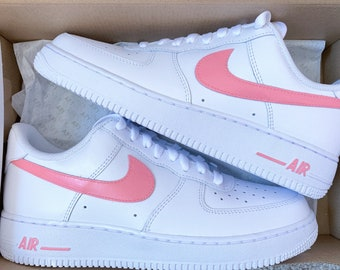 roto confirmar Necesito  Pink nike air force 1 | Etsy