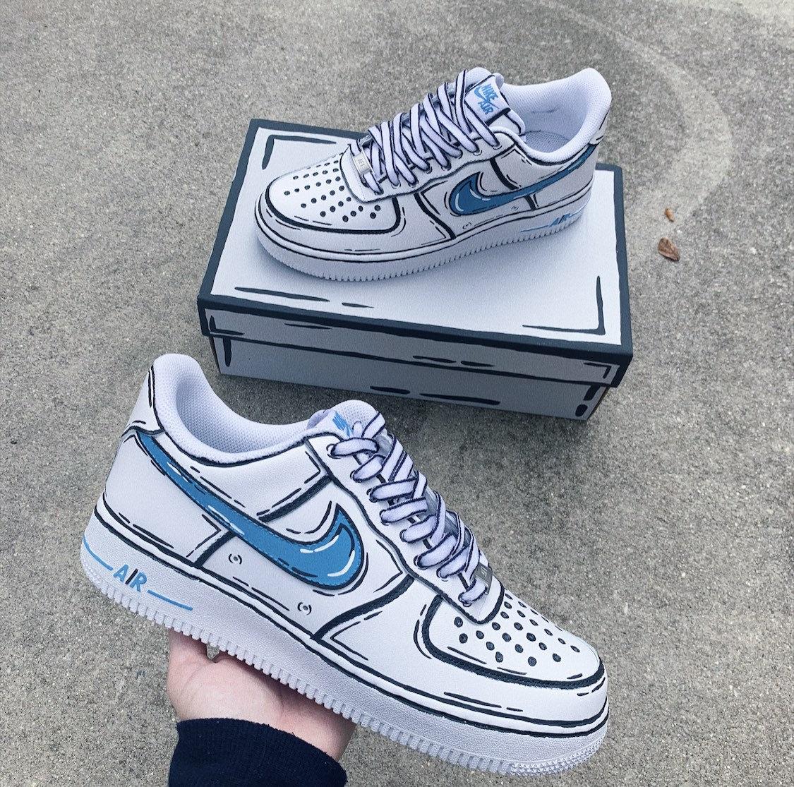 Cartoon Nike Air Force 1 Custom Shoes (Made To Order) Custom Sneakers