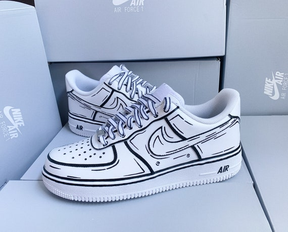 Custom Cartoon Nike Air Force 1 Made To Order Nike Af1 Etsy