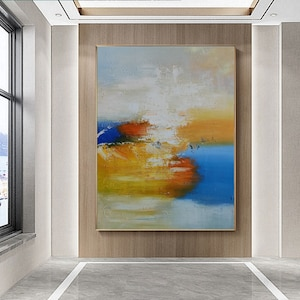 Large abstract painting,Modern Home Decor Modern Colorful Wall Art For Living Room Abstract Oil Texture Original Colorful Painting Abstract