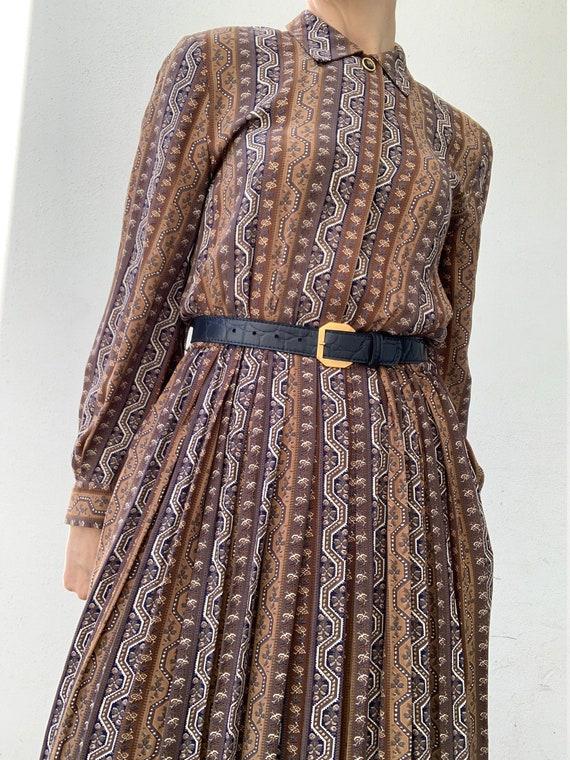 Vintage Mandy Marsh printed calf length dress with