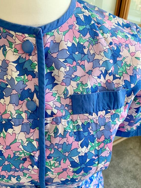 Vintage 80's Marion Donaldson floral cotton dress