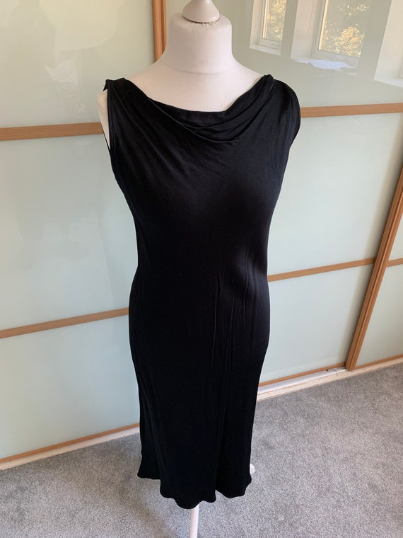 Vintage 1990s PLANET black slip dress - image 1