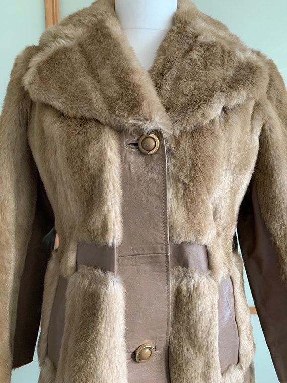 Vintage 1970's fake fur jacket