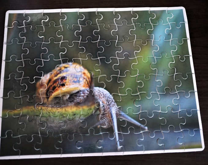 Featured listing image: Cute Snail 80 Piece Puzzle