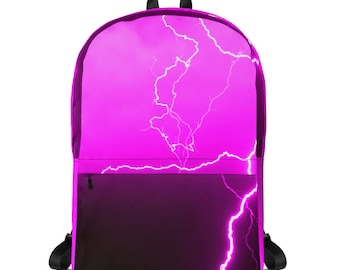 Pink Lightning Laptop Backpack