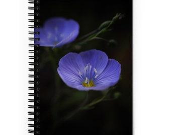 Elegant Blue Flower Spiral notebook