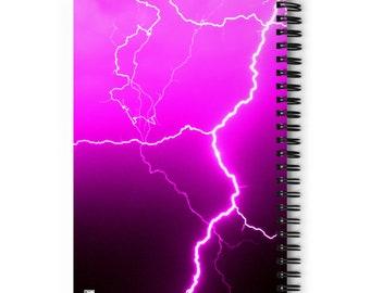 Pink Lightning Spiral Notebook