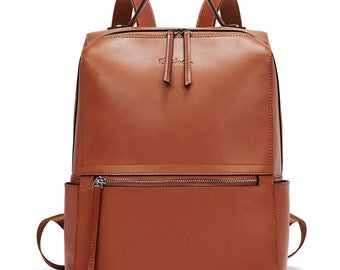 38adb0662 BOSTANTEN Genuine Leather Backpack Purse Fashion Casual College Travel  Handbag for Women