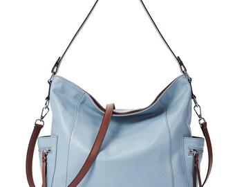 81eed1889 BOSTANTEN Genuine Leather Hobo Handbags Designer Shoulder Tote Purses  Crossbody Large Bag for Women