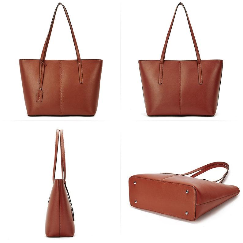 155f47051b43 BOSTANTEN Women Handbag Genuine Leather Tote Shoulder Purses