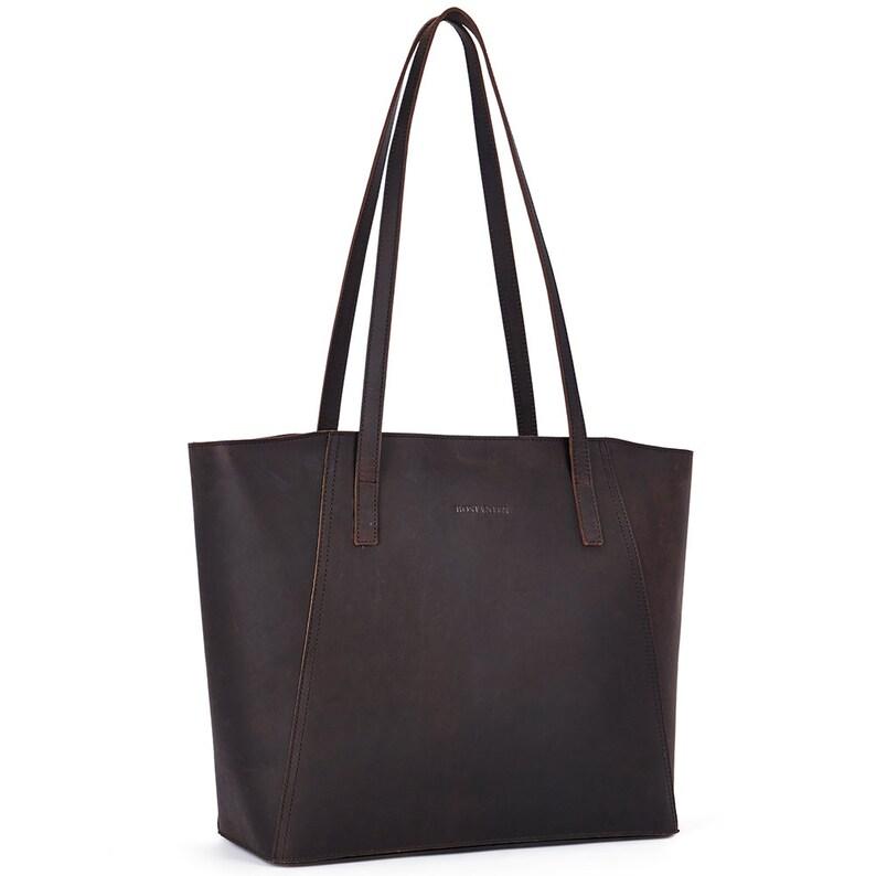 eab405729c74 BOSTANTEN Vintage Leather Handbag Designer Tote Shoulder Purse for Women