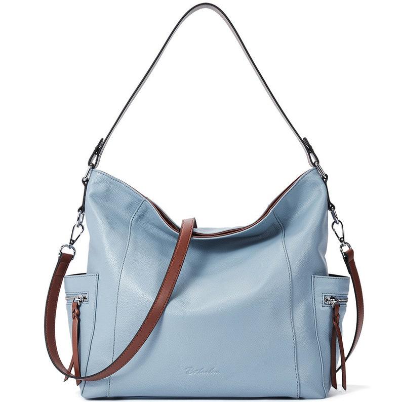 a25720e91c6f3e BOSTANTEN Genuine Leather Hobo Handbags Designer Shoulder Tote   Etsy