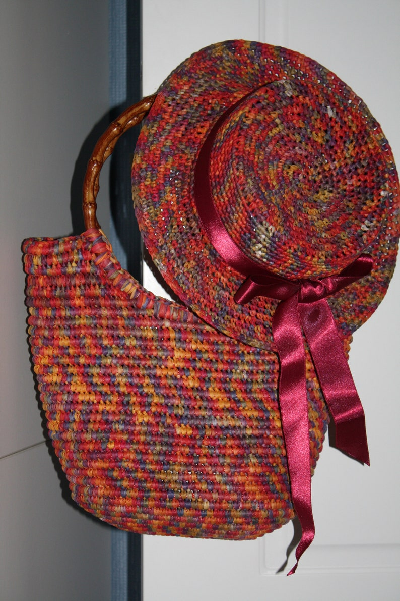 Crochet raffia straw summer bag Multicolour red shopping  eco handbag overnight pool baby Bag for beach grocery market