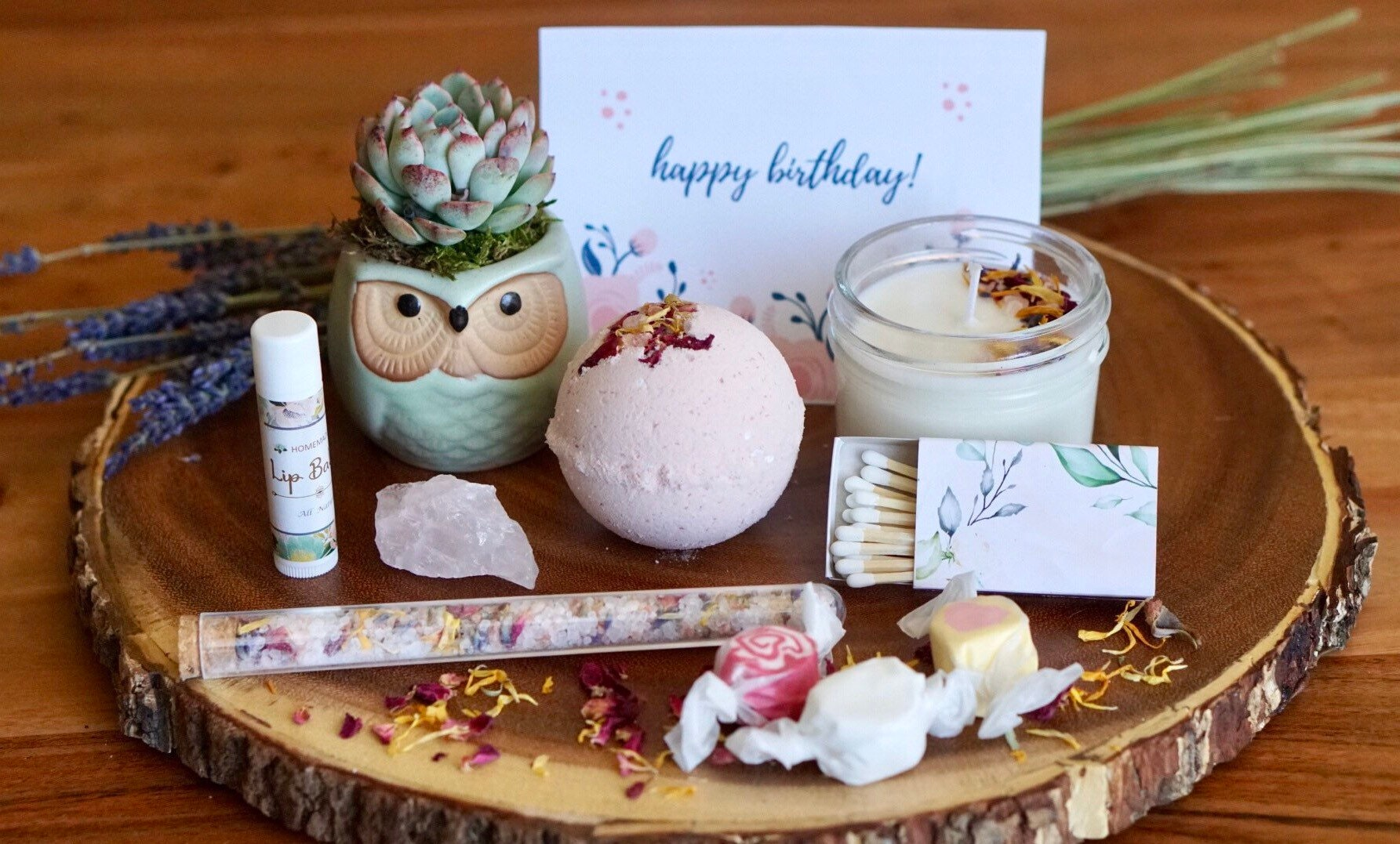 Succulent Birthday Gift Box W Mask Happy Birthday Care Package Christmas Gift Succulent Gift Get Well Gift Succulents Spa Gift