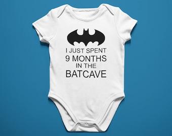 c20e31ed7 Adorable Batman Onesie - Unisex Onesie - I Just Spent 9 Months In The  Batcave - Baby Batman