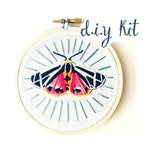 Moth DIY Embroidery Kit