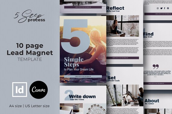 Canva Ebook Template Canva Template Lead Magnet Template Indesign Template Opt In Freebie Checklist Template Content Upgrade