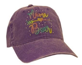 2cd66cf171e858 Momma Bear hat | Bear Momma Bear hat | momma bear heart hat | Mom hat