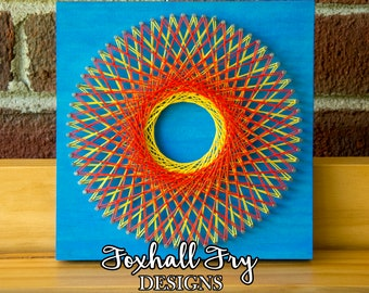 Abstract String Art Etsy