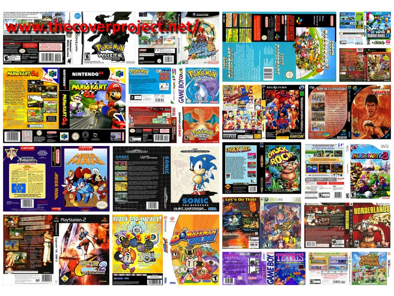 Nintendo Nes, Snes, N64, Sega Mega Drive,Genisis, Ds, Game Boy, Gba , Sega  Cd, Master System replacement Cover art  All covers available