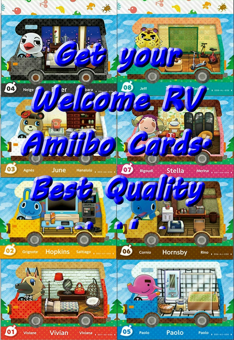 Animal Crossing New Leaf Original art Welcome Amiibo Set, Amiibo Nfc Tag  cheat Cards 2 pack Multi Buys In Stock Does same as Amiibo
