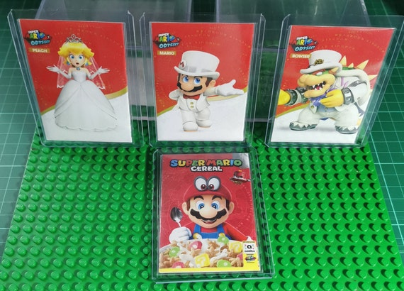 Super Mario Odyssey Amiibo Cheat Cards Set Mario Bowser Peach Wedding Cereal Nfc Cheat Cards All Card Available Does Same As Amiibo