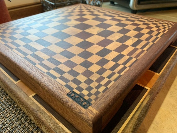 A 3-D Butcher Block Cutting board, end grain hardwood for long life. Pre finished ready to use. Made in Pa. Great gift. A D&G original