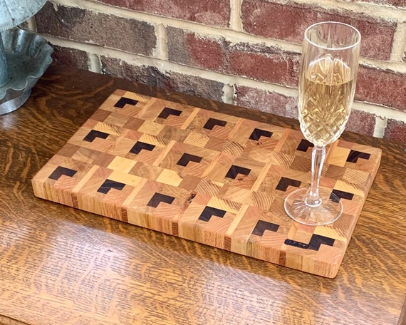 Save Now on Sale. 3-D Butcher Block Cutting/Cheese board, end grain hardwood for long life. Pre finished ready to use. Make a Great Gift D&G