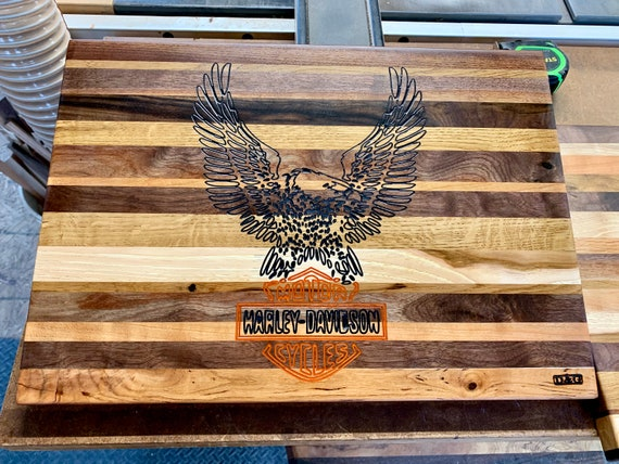 Harley-Davidson Butcher Block Cutting Board, Another D&G original.