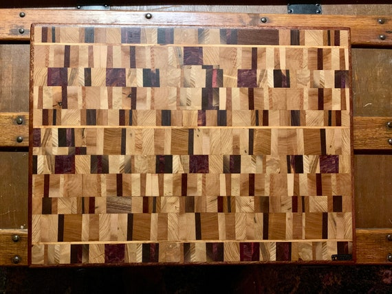 CHAOS Just in time for Father's Day! Butcher Block Cutting board, End Grain Hardwood for long life. Pre finished  A D&G Wood WorX Original