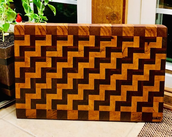 NOW on SALE SFP Zig-Zag Pattern Board from out new line of virtually maintenance free cutting boards. This process leaves a beautiful finish