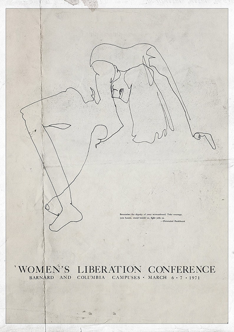Equality, Women/'s Liberation Womans Right Female emancipation Feminist Print Vintage Feminist Poster Feminist Art Feminist movement