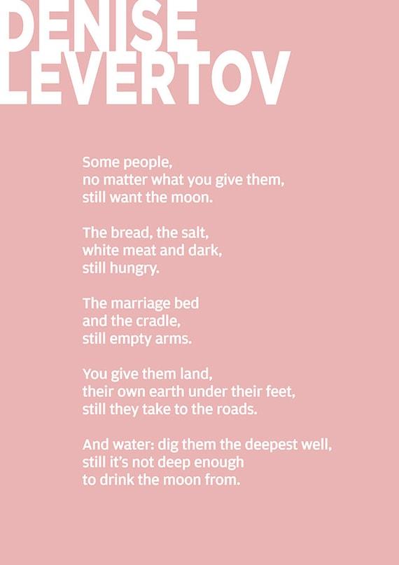Adam S Complaint By Denise Levertov Denise Levertov Poem Poster Denise Levertov Poetry Art Denise Levertov Poetry Gift Denise Levertov