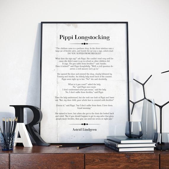 Pippi Longstocking by Astrid Lindgren Pippi Longstocking Quote Poster Pippi Longstocking Wall Art Pippi Longstocking Artwork