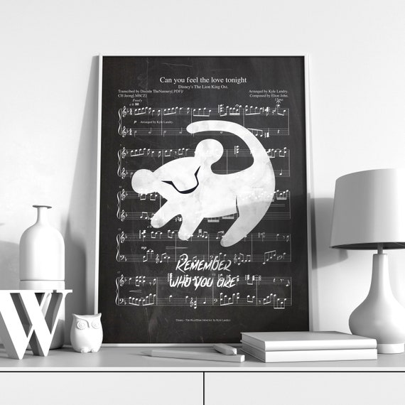 The Lion King Remember Who You Are The Lion King Poster The Lion King Sheet Music Poster The Lion King Chalkboard Artwork
