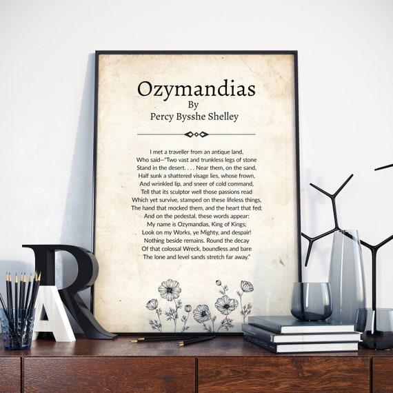 BEAUTIFUL PHOTO POSTER PRINT OZYMANDIAS POEM PERCY BYSSHE SHELLEY