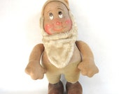 Vintage Disney 12 quot Bashful Snow White Dwarf Soft Body Cloth Face