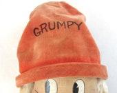 Vintage Disney 12 quot Grumpy Snow White Dwarf Soft Body Cloth Painted Face