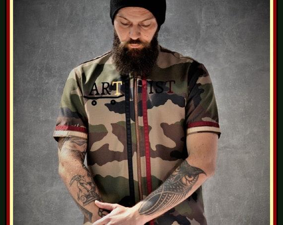 Premium Barber Smock from Kirios Barber Luxury, Army, Jersey, Work-wear, Barber Jacket