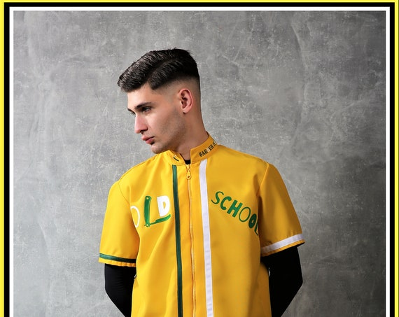 Premium Barber Smock from Kirios Barber Luxury With Green & White Stripes, , Jersey, Work-wear, Barber Jacket
