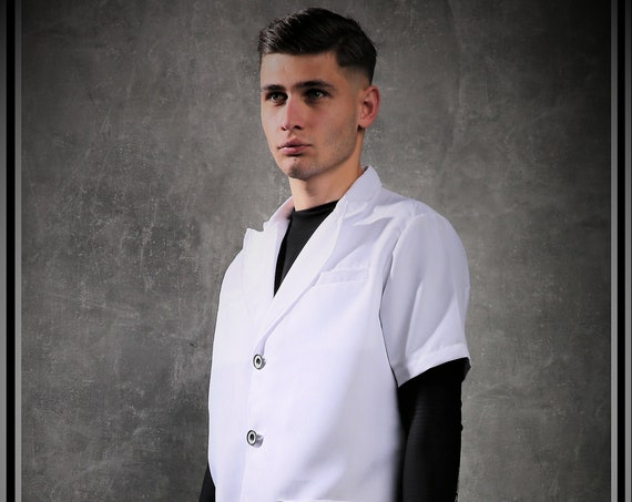 Premium Barber White Jacket From Kirios Barber Luxury,Barber Clothing,Barber Fashion