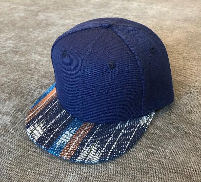 Adjustable kids hat. Dark Blue Serape toddler toddler trucker hat