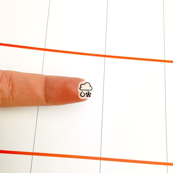 Cloudy S573-Weather Cloud Raining Rain Planner Stickers for Erin Condren
